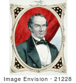 #21228 Stock Photography Of A Colored Lithograph Of Daniel Webster