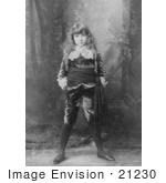 #21230 Stock Photography of Actress Elsie Leslie in Little Lord Fauntleroy in 1888 by JVPD