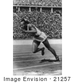 #21257 Stock Photography of Jesse Owens Running in the 1936 Summer Olympics by JVPD