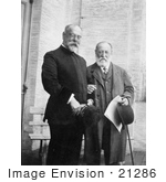 #21286 Stock Photography of John Philip Sousa Standing Beside Composer Camille Saint-Saens by JVPD