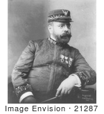 #21287 Stock Photography Of John Philip Sousa Seated And Holding His Baton In His Lap 1900