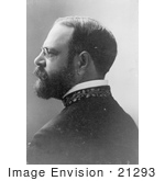 #21293 Stock Photography Of John Philip Sousa In Profile Facing Left 1900