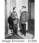 #21294 Stock Photography of Conductor John Philip Sousa With Actor Charlie Chaplin, 1916 by JVPD