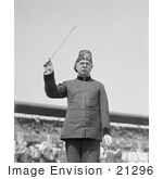 #21296 Stock Photography Of John Philip Sousa Conducting A Band In 1923