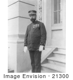 #21300 Stock Photography Of John Philip Sousa In Uniform Standing On Steps 1904
