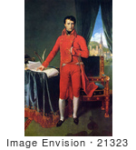 #21323 Stock Photography Of A Portrait Of Napoleon I Of France By Jean Auguste Dominique Ingres