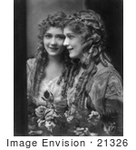 #21326 Stock Photography of Gladys Louise Smith, Known as Mary Pickford, Leaning Against a Mirror Looking at Her Reflection by JVPD