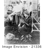 #21336 Stock Photography Of Gladys Louise Smith Known As Mary Pickford Knitting For The Red Cross