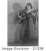 #21338 Stock Photography Of Gladys Louise Smith Known As Mary Pickford Playing A Guitar In Rosita