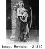#21345 Stock Photography Of Gladys Louise Smith Known As Mary Pickford Strumming A Guitar In Rosita