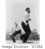 #21352 Stock Photography Of Jose Ferrer And Paul Robeson Playing Baseball