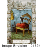 #21354 Stock Photography Of General Tom Thumb Standing On A Chair