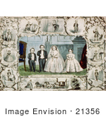 #21356 Stock Photography Of The Marriage Of General Tom Thumb And Lavinia Warren Stratton