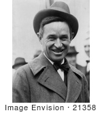 #21358 Stock Photography Of Will Rogers Wearing A Hat And Smiling