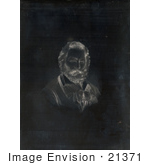 #21371 Historical Stock Photography Of Walt Whitman Engraved For The Leaves Of Grass
