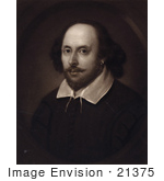 #21375 Historical Stock Photography Of A Sepia Portrait Of William Shakespeare