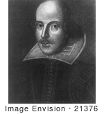#21376 Historical Stock Photography Of William Shakespeare