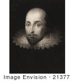 #21377 Historical Stock Photography Of William Shakespeare Wearing A Lace Collar