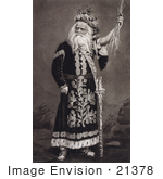 #21378 Historical Stock Photography Of Edwin Forrest As King Lear In The Play By William Shakespeare