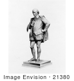 #21380 Historical Stock Photography Of A Statue Of William Shakespeare