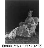 #21397 Stock Photography Of Ida Saxton Mckinley First Lady And Wife Of William Mckinley In A Gorgeous Gown