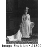 #21399 Stock Photography Of Ida Saxton Mckinley First Lady And Wife Of William Mckinley In A Stunning Dress With A Train