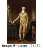 #21439 Stock Photography Of Alexander Hamilton Standing By A Table