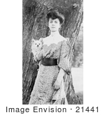 #21441 Stock Photography of Alice Roosevelt Longworth Holding a Little Dog by JVPD