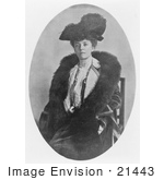 #21443 Stock Photography Of Alice Roosevelt Longworth In A Feathered Hat And Fur Scarf In 1906