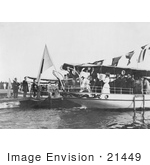 #21449 Stock Photography Of Alice Roosevelt Longworth On A Boat Waving Goodbye Kobe Japan