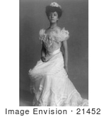 #21452 Stock Photography of Alice Roosevelt Longworth Seated in a Gorgeous Ball Gown in 1902 by JVPD