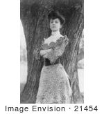 #21454 Stock Photography Of Alice Roosevelt Longworth Standing In Front Of A Tree With Her Arms Folded