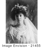 #21455 Stock Photography Of Alice Roosevelt Longworth In A Veil And Wedding Dress 1906