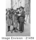 #21459 Stock Photography Of Alice Roosevelt Longworth Buying Liberty Bonds From Girl Scouts