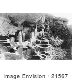 #21567 Architecture Stock Photography Of Houses Of The Cliff Palace Mesa Verde National Park Colorado 1917