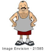 #21585 Hairy Man With Chest Hair, Hairy Arms, Legs and Armpits Clipart by DJArt