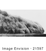 #21597 Stock Photography Of A Dust Storm Cloud In Colorado 1935