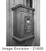 #21600 Stock Photography of an Old Fashioned Mailbox in the Munsey Building by JVPD