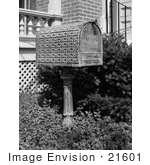 #21601 Stock Photography Of An Elegantly Ornamented Mailbox At The Morris-Butler House