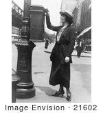 #21602 Stock Photography Of Merle Alcock Sending Off Mail At A Mailbox In New York City