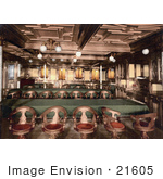 #21605 Stock Photography Of The Second Class Dining Room On The Konig Albert Steamship North German Lloyd Royal Mail Steamers