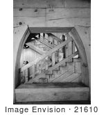 #21610 Stock Photography Of Stairs In The Timberline Lodge Oregon
