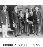 #2163 President And Mrs Coolidge Herbert Hoover Frank B Kellogg