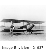 #21637 Stock Photography of Charles Lindbergh by Sergeant Bell's Plane in 1925 by JVPD