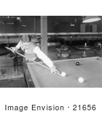 #21656 Stock Photography Of Willie Hoppe Playing A Game Of Pool