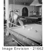 #21662 Stock Photography Of Firmin Cassignol Playing A Game Of Pool