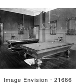 #21666 Stock Photography Of Pool Tables In A Rec Room