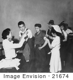 #21674 Stock Photography Of Japanese Americans Getting Shots In San Francisco California 1