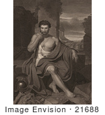 #21688 Stock Photography Of Caius Marius Seated At The Ruins Of Carthage Tunisia