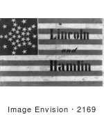 #2169 Lincoln And Hamlin Campaign Flag